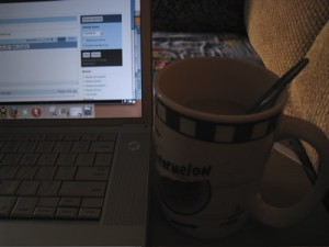 Morning coffee and blogging