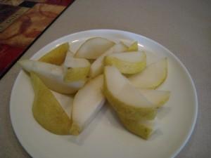 Post-run pear