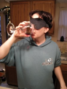 Taste 1 with stylish blindfold