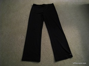 Black exercise pants by Champion