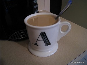First cup...