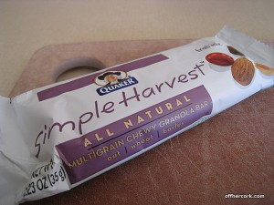 Simple Harvest Trail Mix Granola Bar