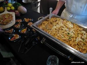 Figlio served pasta and pizza