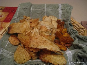 Crunchy salty chips