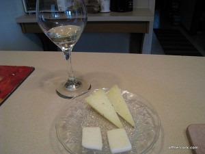 Manchego and goat's milk cheese