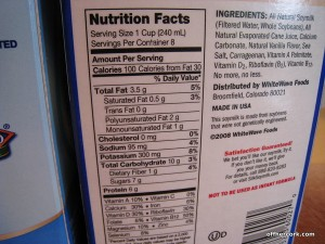 Soymilk Ingredients and Nutritional Info
