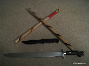 Stick Fighting training weapons