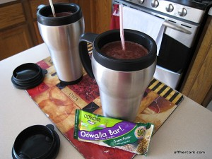 Smoothie and Odwalla bar