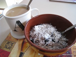 Coffee and oatmeal