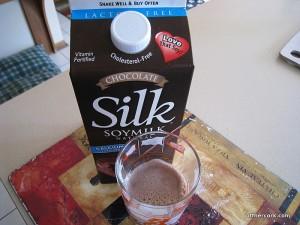 Chocolate soymilk