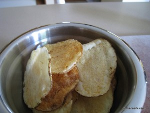 Baked salt and vinegar chips