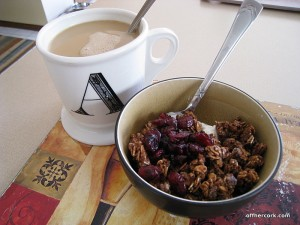 Coffee, yogurt, and granola