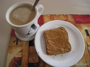 Coffee and toast