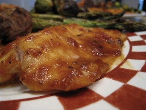 Tilapia with chipotle glaze