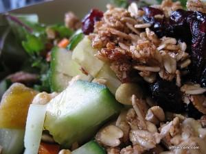 Homemade mixed greens salad