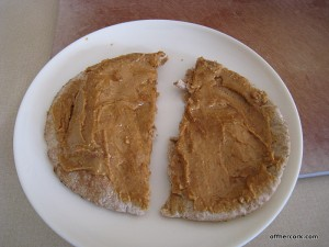 Pita with peanut butter