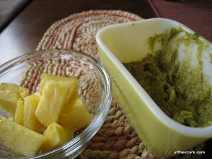 Pineapple and guacamole
