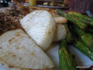 Turnip and asparagus