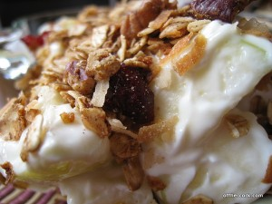 Yogurt, apple, and granola