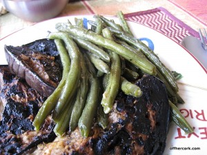 Green beans and eggplant