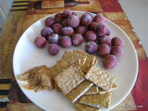 Grapes, crackers, and PB