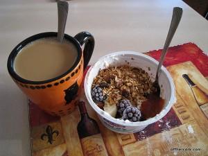 Coffee and yogurt