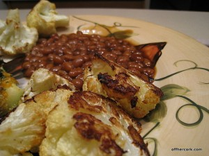 Cauliflower and baked beans