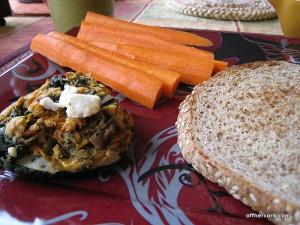 Carrot, zucchini, bread