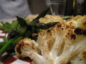 asparagus and cauliflower