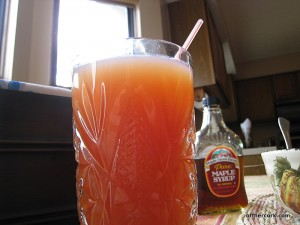 Apple cider cranberry drink