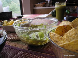 Chips, guac, and pineapple