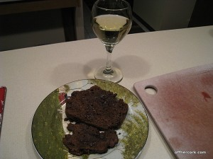 White wine and chocolate zucchini bread