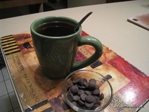 tea and dark chocolate chips