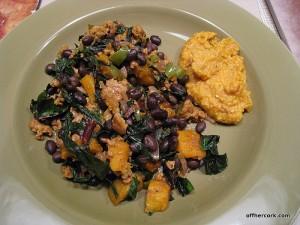 black beans and polenta