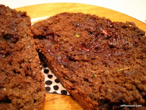 Chocolate Zucchini Bread slice