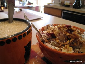 Coffee, yogurt and granola