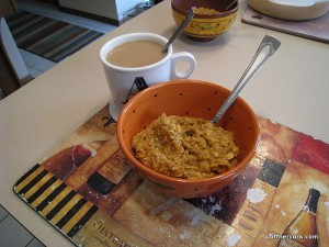 Pumpkin oats and coffee