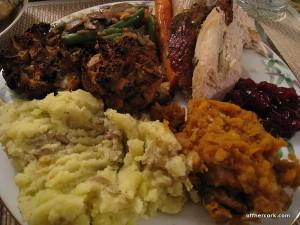 Scott's dinner plate