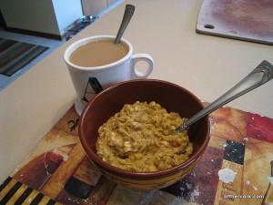 Coffee and pumpkin oats