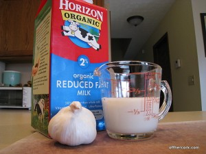 garlic and cream for mashed potatoes