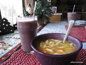 Smoothie and soup