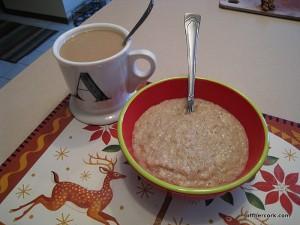 Coffee and oatbran