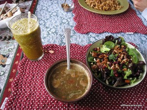 Smoothie, salad, soup