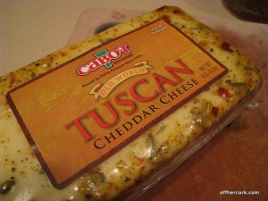 Tuscan cheddar cheese