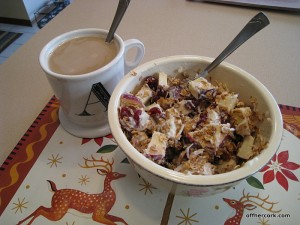 Coffee, yogurt with granola