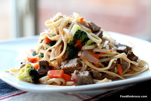 Beef with Udon Noodles