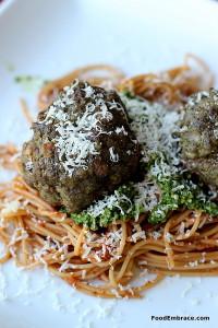 Kale Pesto Meatballs