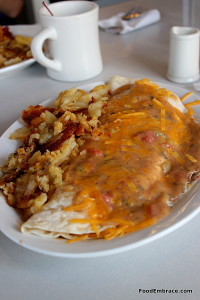 Silver Grill's Vegetarian Huevos Rancheros