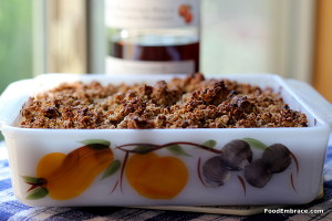 Peach Whiskey Crumble