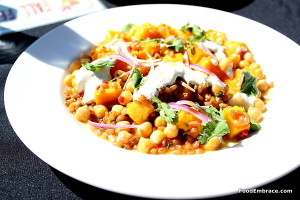 Squash and wheatberries